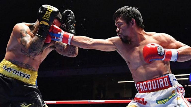 Manny Pacquiao stops Lucas Matthysse in Round 7 for first TKO victory since 2009