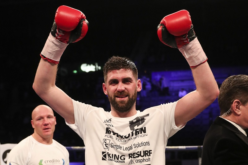 Super middleweight Rocky Fielding. Photo by Lawrence Lustig