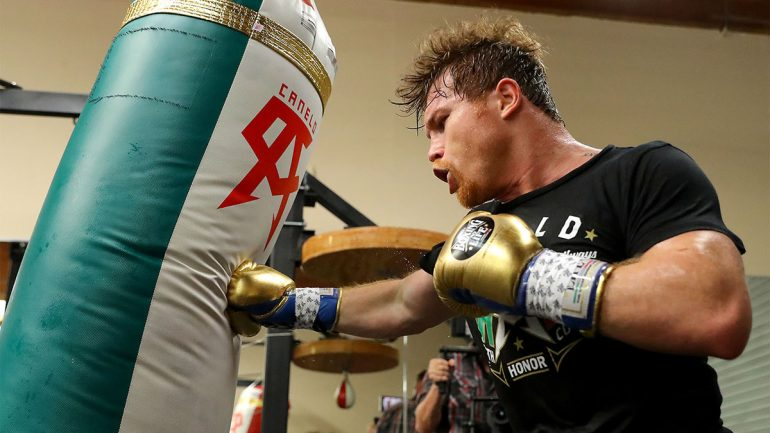 Photos: Canelo Alvarez training for Golovkin rematch