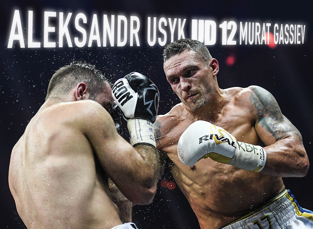 Undisputed cruiserweight champion Oleksandr Usyk (right) vs. Murat Gassiev (left). Photo credit: Vladimir Astapkovich/Sputnik via Associated Press