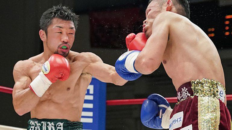 Akira Yaegashi survives another war, stopping Hirofumi Mukai in 7