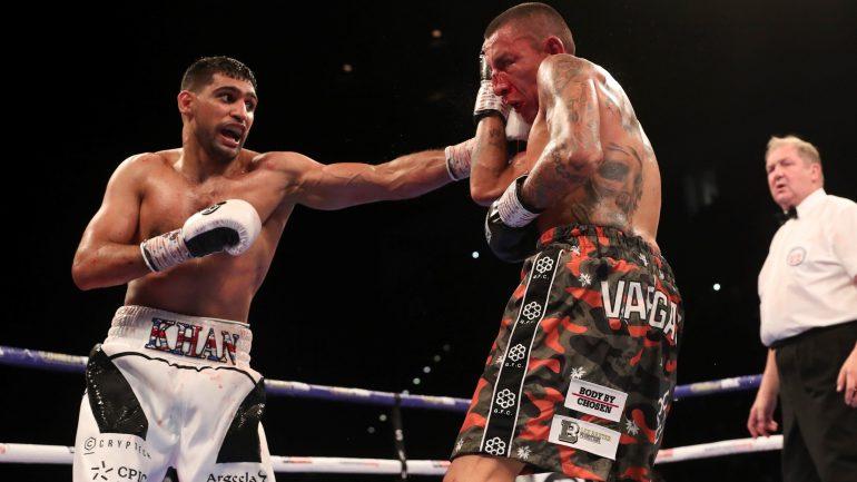 Amir Khan survives knockdown, outpoints Samuel Vargas over 12