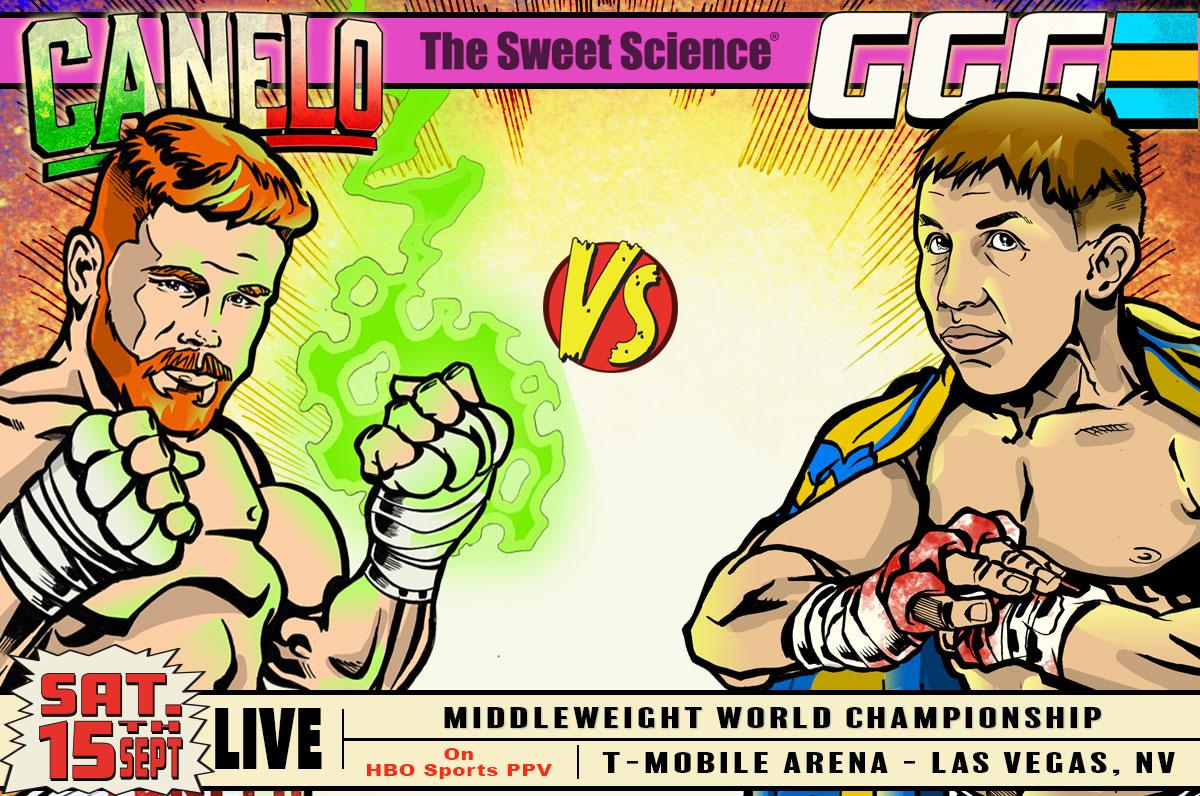 Canelo Alvarez vs. Gennady Golovkin. Art courtesy of Rob Ayala