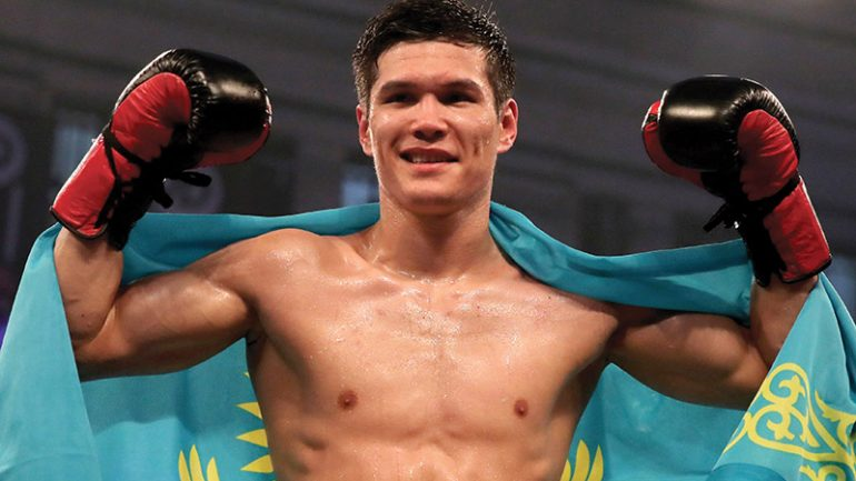 Daniyar Yeleussinov stops Julius Indongo in two on the Jacobs-Rosado undercard