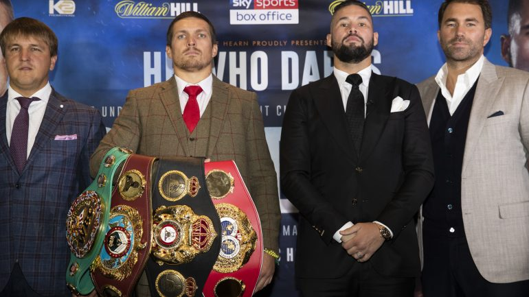 Aleksandr Usyk primed for Tony Bellew encounter: 'It is difficult to hit something that disappears'