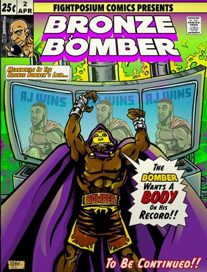 "WBC heavyweight titlist Deontay Wilder as ""Bronze Bomber."" Art courtesy of Rob Ayala"