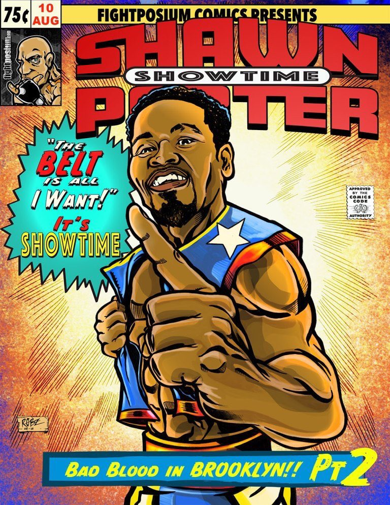 WBC welterweight titlist Shawn Porter. Art courtesy of Rob Ayala