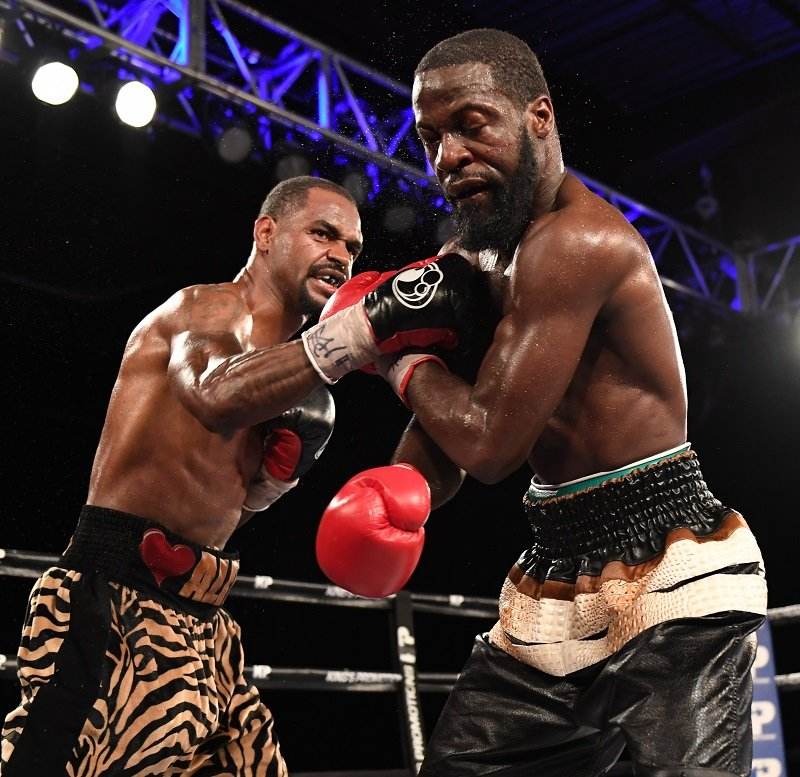 Undefeated welterweight Terrel Williams (left) vs. David Grayton. Photo credit: Matt Heasley