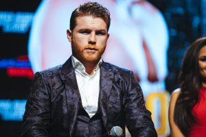 The Ring Magazine/WBA/WBA middleweight champion Canelo Alvarez. Amanda Westcott/DAZN