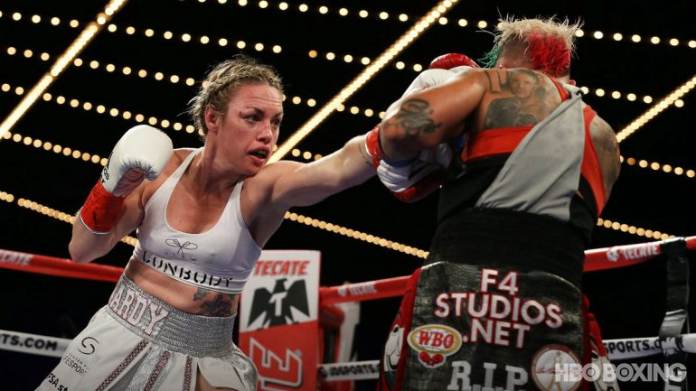 Heather Hardy wins Vincent rematch to claim vacant WBO featherweight title