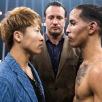 Inoue Rodriguez faceoff post Moloney WBSS 150x150 - Naoya Inoue and Emmanuel Rodriguez to vie for vacant Ring bantamweight championship in WBSS semi-final