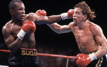 A look back at Sugar Ray Leonard's double title-winning victory over Donny Lalonde