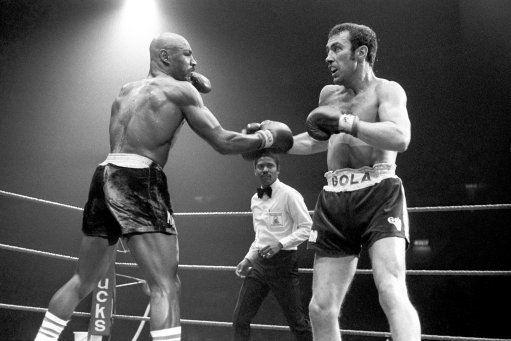 Marvelous Marvin Hagler (left) vs. Alan Minter. Photo credit: S&G and Barratts/EMPICS Sport