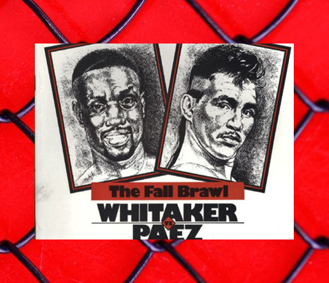 Pernell Whitaker (left) vs. Jorge Paez promotional art