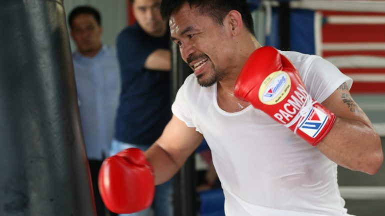 PHOTOS: Manny Pacquiao opens training camp for Adrien Broner fight