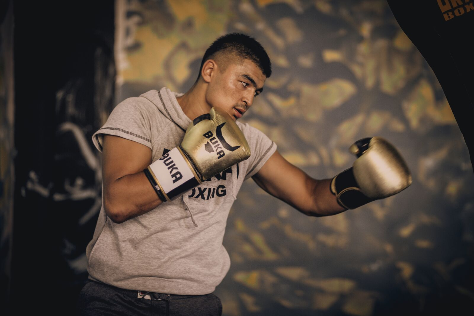 Super middleweight Azizbek Abdugofurov. Photo credit: Otabek Khaydarov/BUKA Boxing