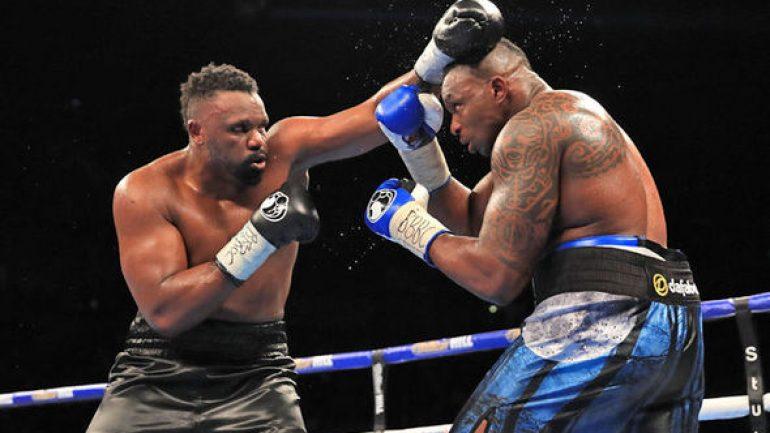 Dillian Whyte-Dereck Chisora rematch set for December 22 in London