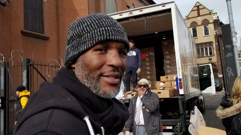 Bernard Hopkins punches out hunger with his annual turkey giveaway