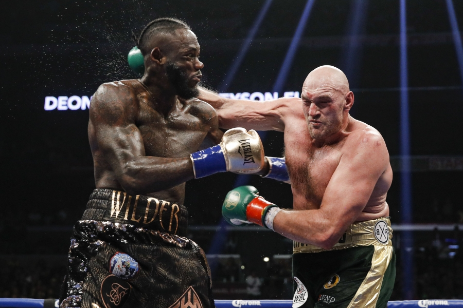 WBC heavyweight titlist Deontay Wilder (left) vs. lineal heavyweight champion Tyson Fury. Photo by Esther Lin/ Showtime
