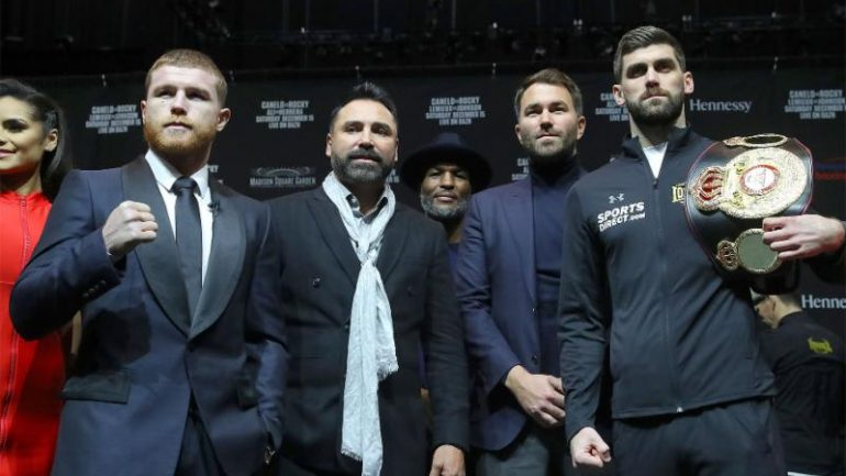 Dougie's Friday mailbag (Canelo-Rocky undercard, Froch, Benn, IBHOF, mythical matchups)