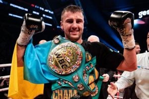 Oleksandr Gvozdyk won the WBC light heavyweight title in his 16th pro fight. Photo by Amanda Westcott-SHOWTIME