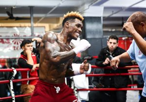 Jermall Charlo media workout Trapp 300x211 - Charlos, Showtime roll the dice and look to the future with PPV doubleheader