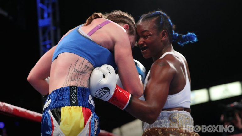 Claressa Shields shuts out Femke Hermans on HBO boxing finale
