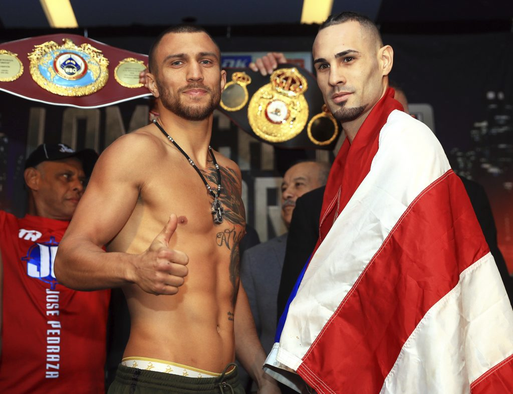 lomachenko pedraza weighin 1024x788 - Javier Molina: We have an answer for whatever Jose Pedraza wants to do in the ring