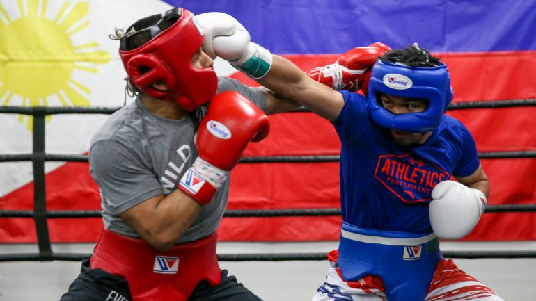 PHOTOS: Manny Pacquiao spars with Arnold Gonzalez at Wild Card