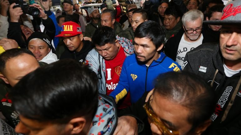 Photos: Manny Pacquiao makes grand arrival, trains in Las Vegas