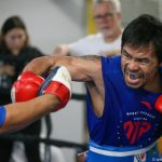 pacquiaomitts1 150x150 - Photos: Manny Pacquiao makes grand arrival, trains in Las Vegas