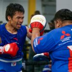 pacquiaomitts2 150x150 - Photos: Manny Pacquiao makes grand arrival, trains in Las Vegas