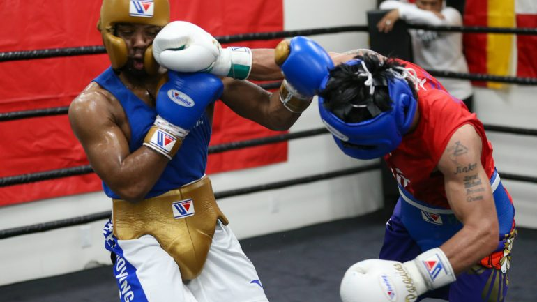 Photos: Manny Pacquiao opens the new year with sparring at Wild Card