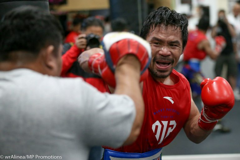 Image result for pacquiao calls out Spence Mikey Winner