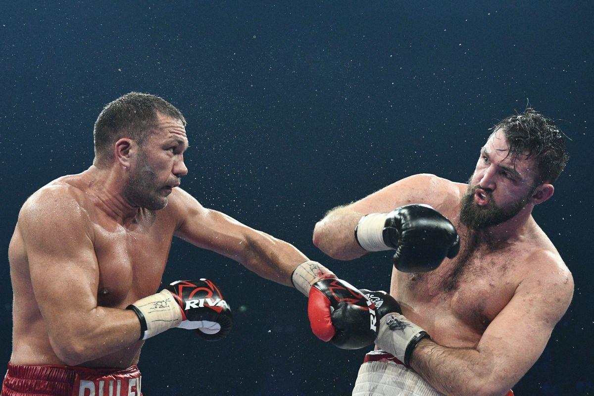 Kubrat Pulev (left) vs. Hughie Fury. Photo credit: Hennessy Sports