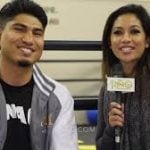 """Mikey Garcia and Cynthia Conte at SNAC 150x150 - Watch: Garcia responds to Errol Spence's """"Mikey looks fat and sloppy"""" comment"""