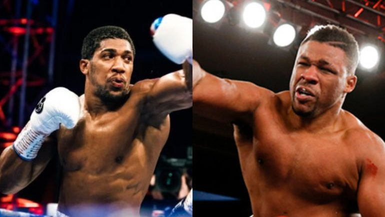 Anthony Joshua and Jarrell Miller agree to terms for heavyweight championship clash