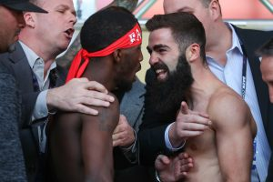 BJ2I2168 300x200 - Photos: Tevin Farmer, Jono Carroll make weight in Philly