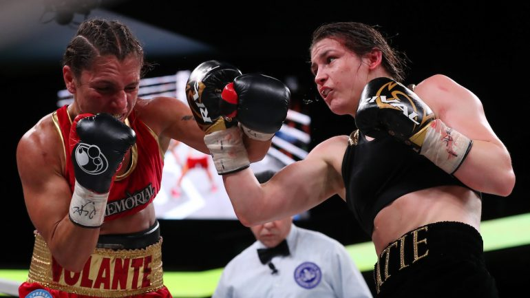 Katie Taylor adds another lightweight belt by dismantling Rose Volante in 9