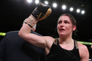 BJ2I5714 1 300x200 - Katie Taylor adds another lightweight belt by dismantling Rose Volante in 9