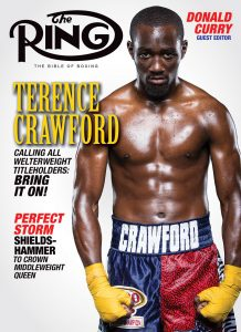 May2019 RingCover 218x300 - Dougie's Monday mailbag (Terence Crawford criticism, 'overrated' heavyweights)