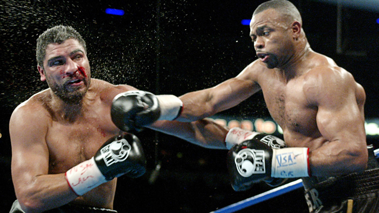 Roy Jones Jr. (right) vs. John Ruiz. Photo credit: Action Images/Reuters/Steve Marcus