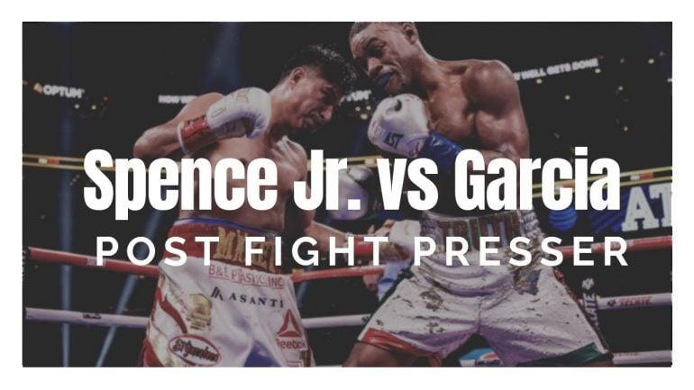 Watch: Spence-Garcia post-fight presser, Kelly Pavlik, Deontay Wilder interviews