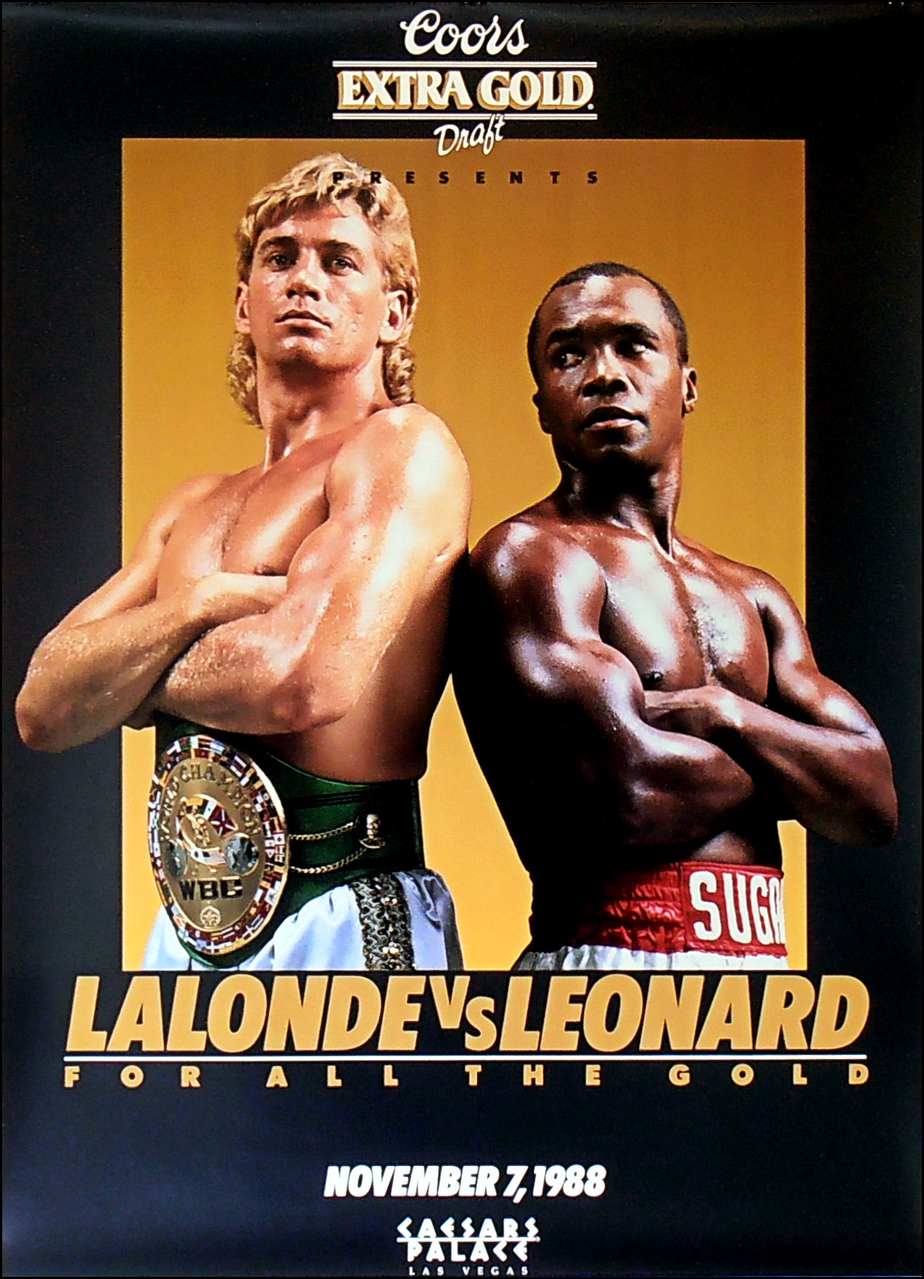 Sugar Ray Leonard (right) vs. Donny Lalonde