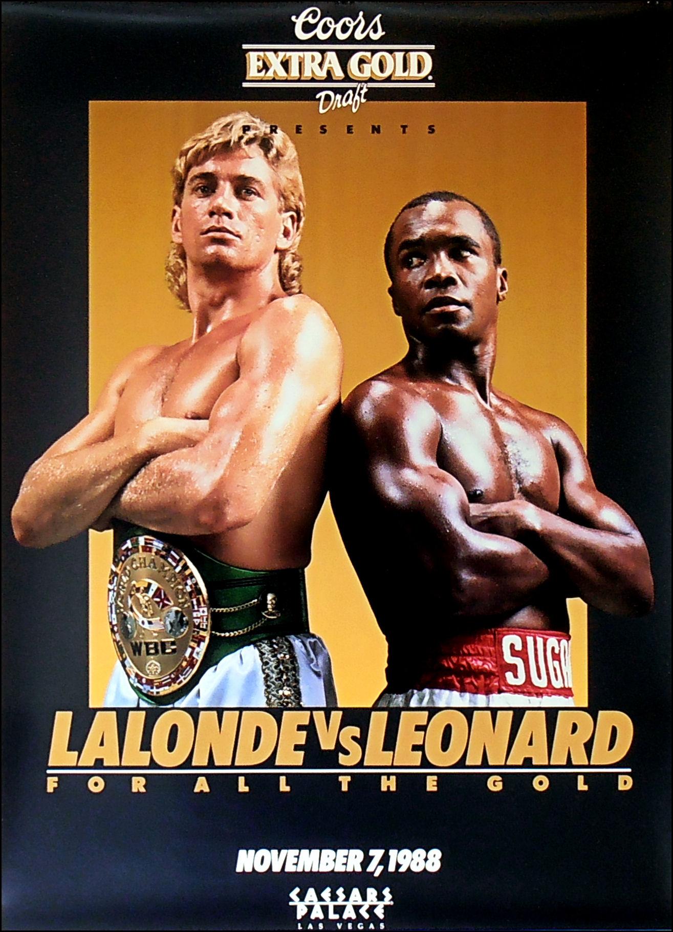 Sugar Ray Leonard vs. Donny Lalonde poster - David vs. Goliath: A boxing history lesson