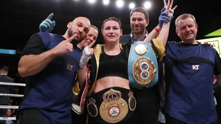 Katie Taylor-Delfine Persoon undisputed lightweight title bout set for June 1, The Ring title also at stake