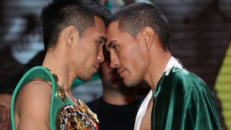 Photos: Srisaket Sor Rungvisai, Juan Estrada make weight for rematch
