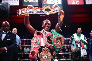 Claressa Shields undisputed champ ring belt Trappfotos 300x200 - The Ring presents its inaugural women's pound-for-pound, divisional rankings