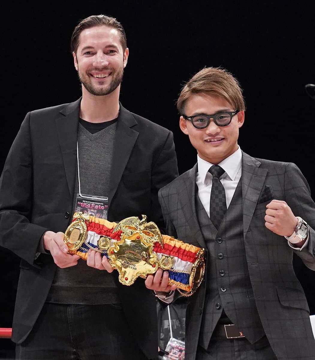 D17vQiJUYAAu25k - Hiroto Kyoguchi 'honored' to have received The Ring 108-pound championship belt