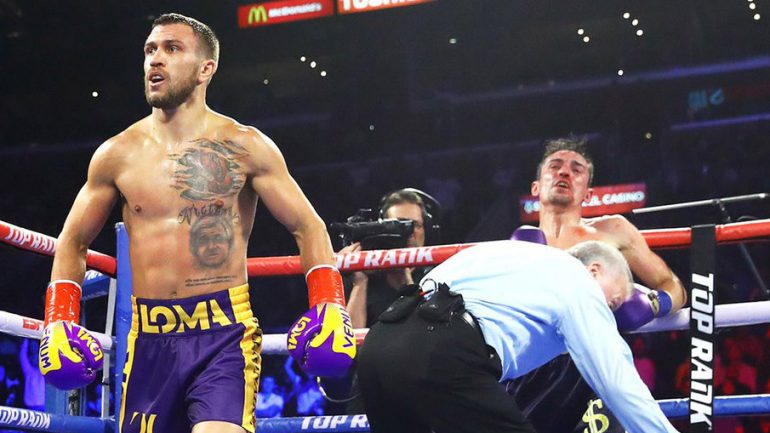 Vasiliy Lomachenko blasts Anthony Crolla in four rounds